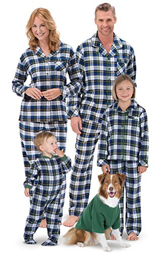 Sale Flannel Tartan Plaid Button-Front Matching Family Pajamas
