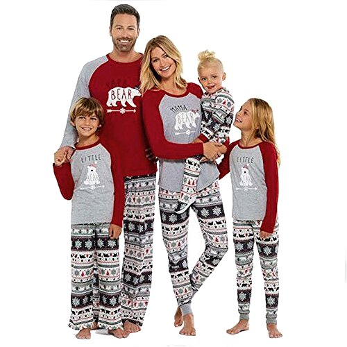 Sale Family Pajamas Mama/Little/Papa Bear Top & Fair Isle Bottoms
