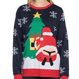 ... Tipsy Elves Womenu0027s Winter Whale Tail Sweater ...