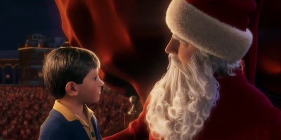 the polar express the first gift of christmas scene